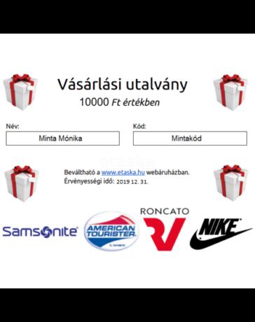 Ajándékutalvány - Etáska - minőségi táska webáruház hatalmas ... 63941e6ec2