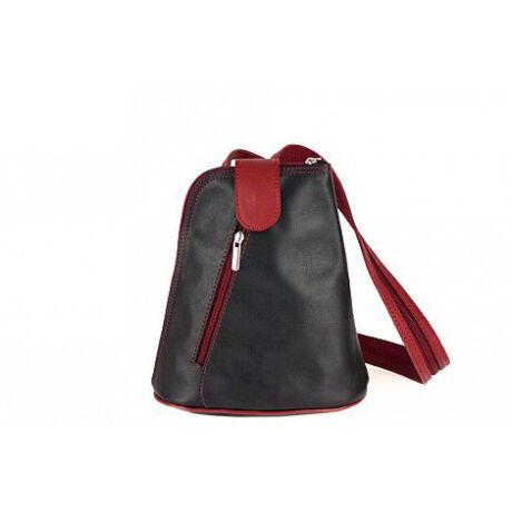 Valódi bőr hátizsák RYANAIR méretű kistáska belefér a 40 x 20 x 25 cm es méretbe.*