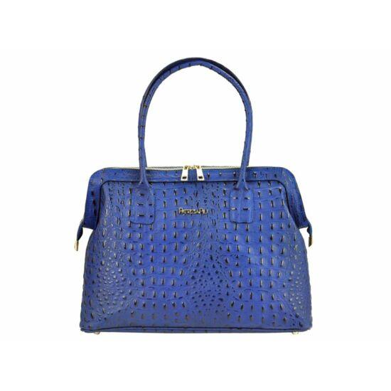 Patrizia Piu Valódi bőr női táska kék színben