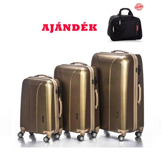 Yearz New Carat gold brushed bőrönd szett + AJÁNDÉK UTAZÓTÁSKA