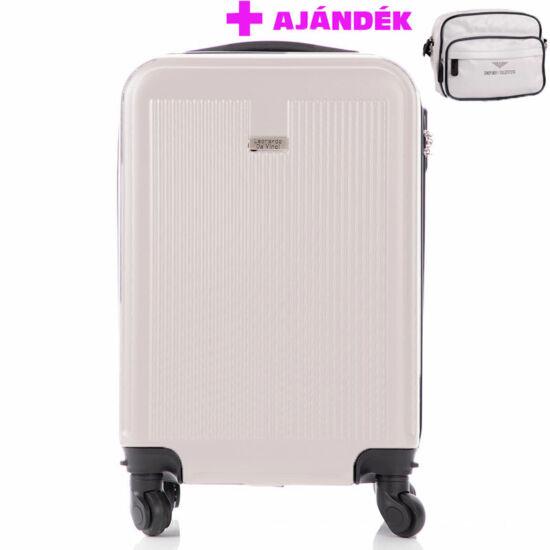 LEONARDO DA VINCI Bőrönd kabin méret ÚJ WIZZAIR méret levehető kerekekkel+Emporio Valentini táskával AKCIÓ!!