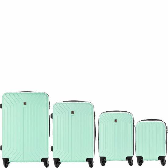 LEONARDO DA VINCI 507 4 db-os bőrönd szett Mentazöld színben