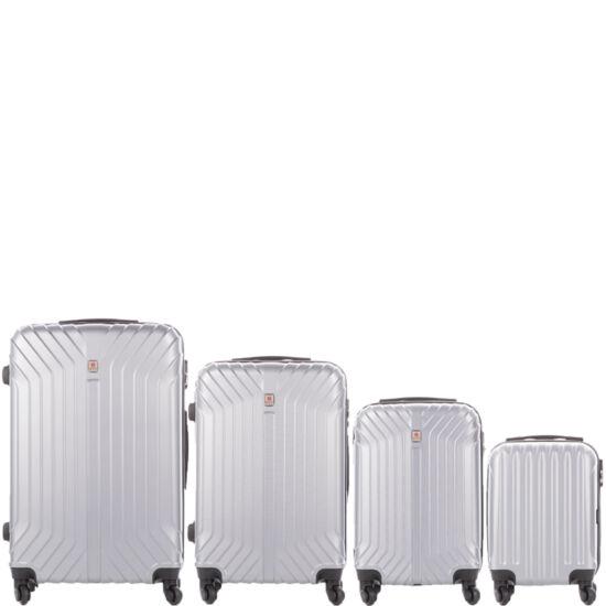 LEONARDO DA VINCI 507 4 db-os bőrönd szett kagyló ezüst színben
