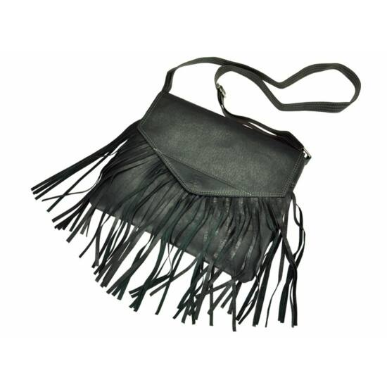 Valódi bőr rojtos női táska
