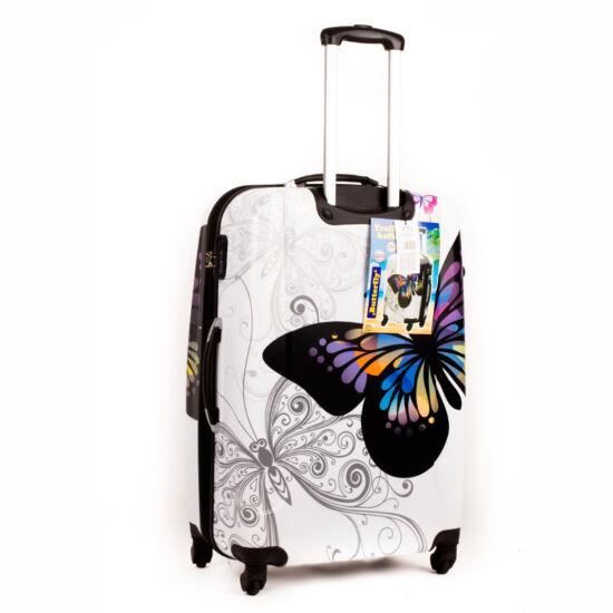 7526e63a7de4 Pillangós ABS bőrönd közepes méret - Kemény bőrönd - Etáska ...