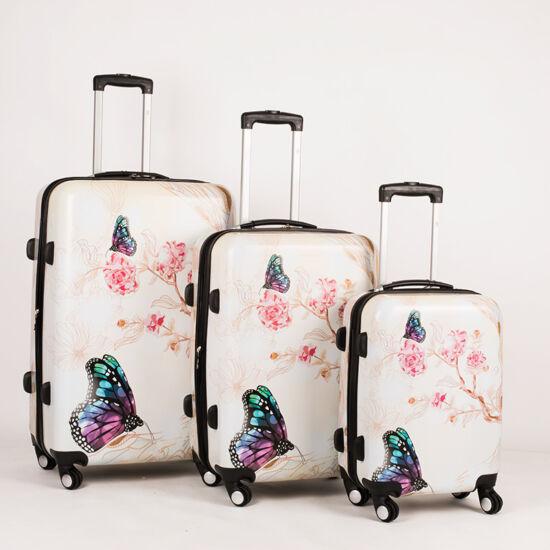 daa50fd761a9 Pillangós bőrönd szett 3 részes - Akciós bőrönd - Etáska - minőségi ...