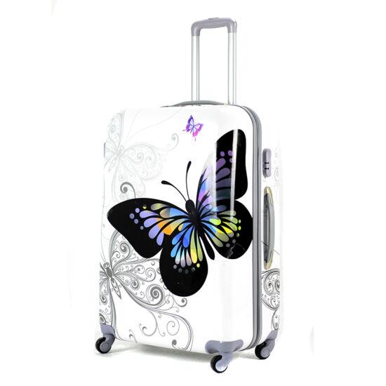 aded4f6b5c06 Pillangós ABS bőrönd nagy méret - Kemény bőrönd - Etáska - minőségi ...