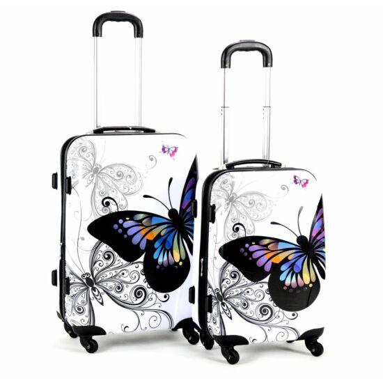 3689d1fe2249 Pillangós bőrönd szett 2 részes - Kemény bőrönd - Etáska - minőségi ...