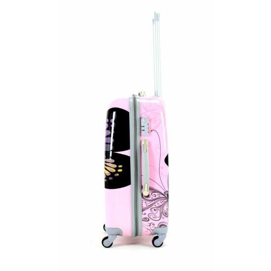 a6737379fa72 Pillangós ABS bőrönd szett 3 részes - Kemény bőrönd - Etáska ...