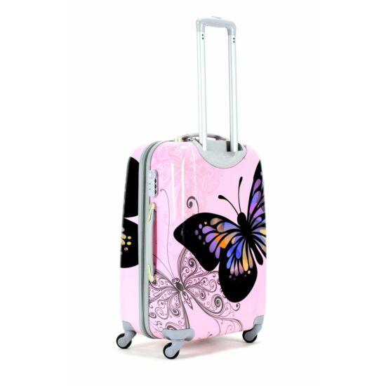 c3062ae08f41 Pillangós ABS bőrönd szett 3 részes - Kemény bőrönd - Etáska ...
