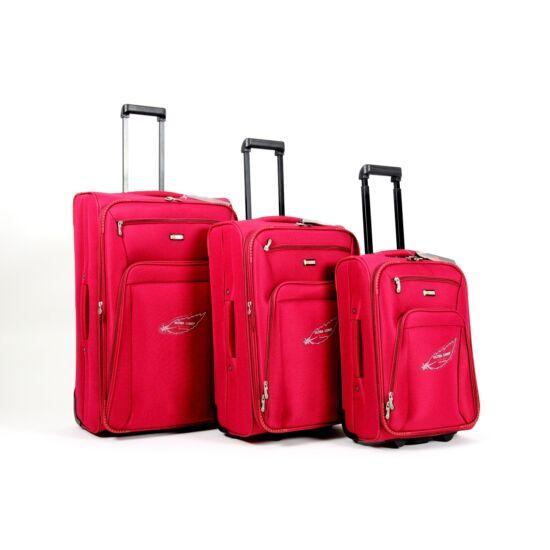 Touareg bőrönd szett piros 3 részes FA-1046