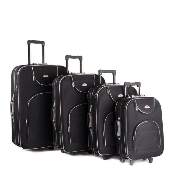 Bőrönd szett 4 részes fekete színben