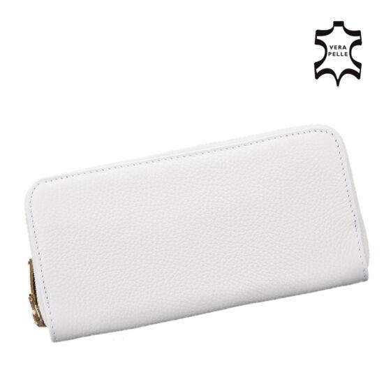 a5e33bfd97 Valódi bőr fehér női pénztárca - Női pénztárcák - Etáska - minőségi ...
