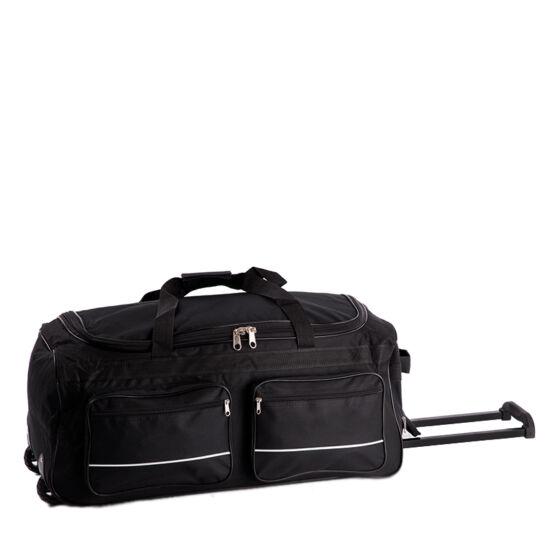 Gurulós utazó táska Fekete színben