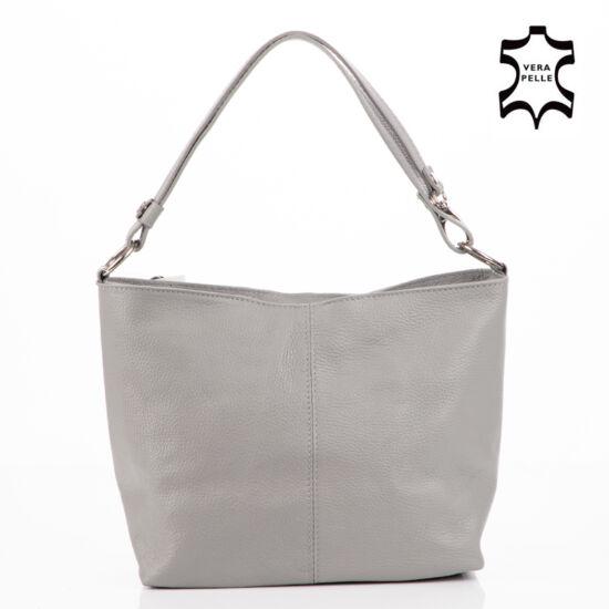 Valódi bőr női táska szürke színben