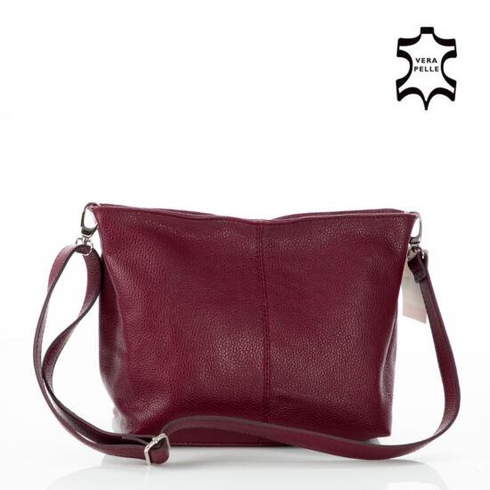 594753f798 Valódi bőr női táska bordó színben - Oldaltáska - Etáska - minőségi ...