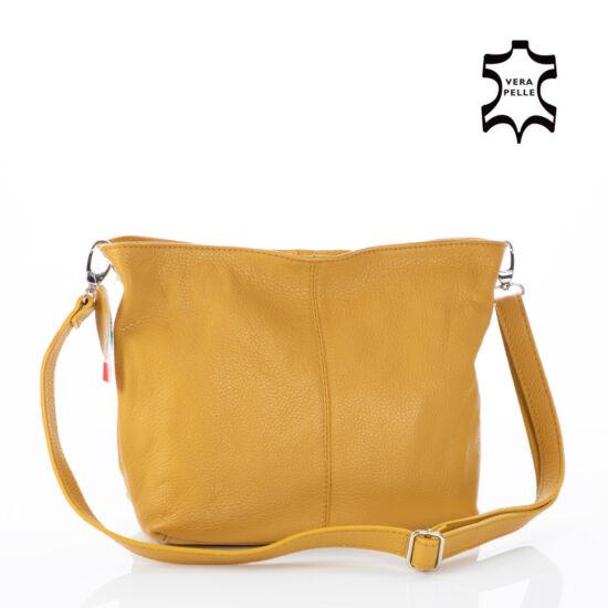 Valódi bőr női táska mustár színben