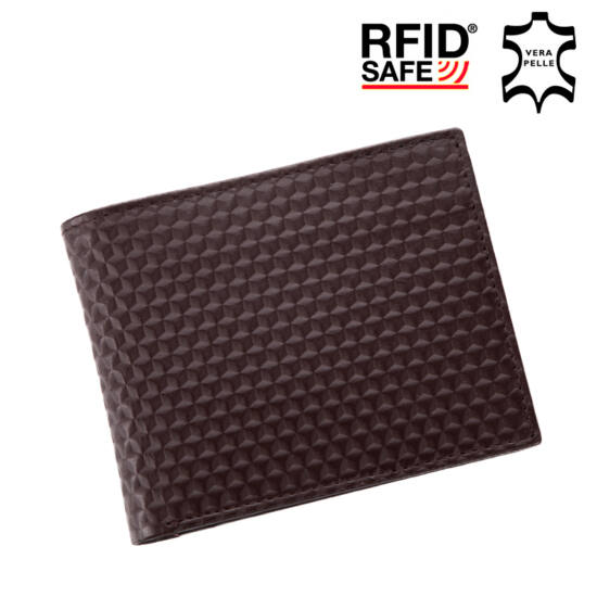 GIULIO valódi bőr férfi pénztárca díszdobozban RFID rendszerrel +