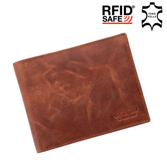 GIULIO valódi bőr férfi pénztárca díszdobozban RFID rendszerrel