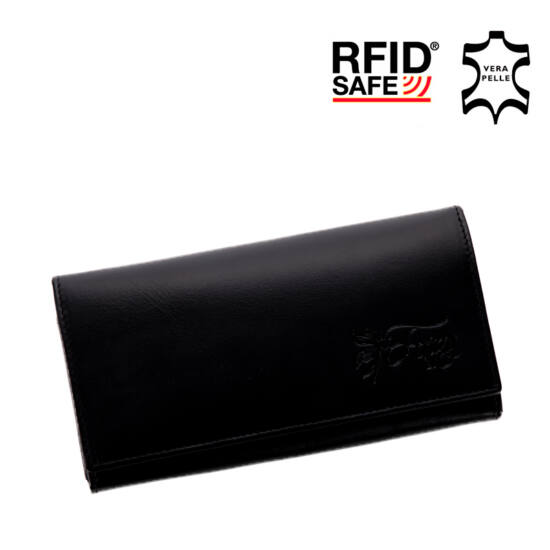 77e72d36649f Fairy valódi bőr fekete női pénztárca RFID védelemmel* - Fairy ...