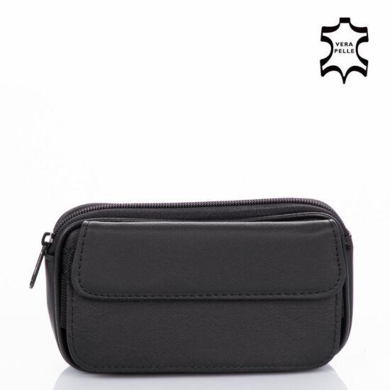 Valódi bőr övre fűzhető mobiltartós táska DSD006 Black