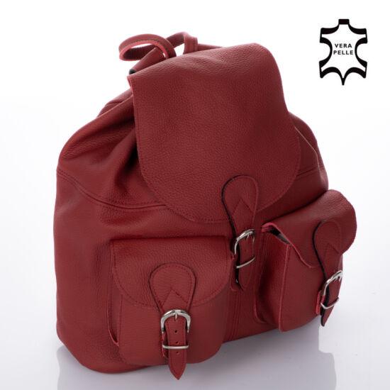 Valódi bőr bordó hátizsák DSD001 Bordo