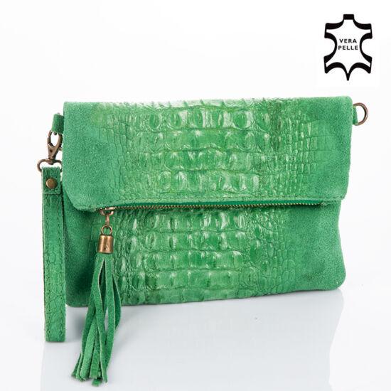 Valódi bőr női táska zöld színben