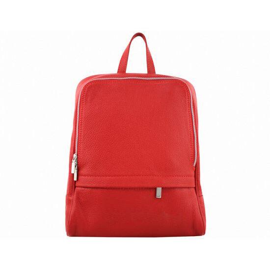 Valódi bőr női hátizsák S7030 Red*