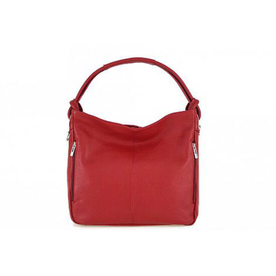 Valódi bőr női táska piros színben S7093 Red