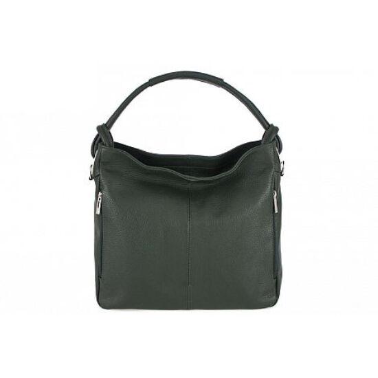 Valódi bőr női táska üvegzöld színben S7093 BottleGreen
