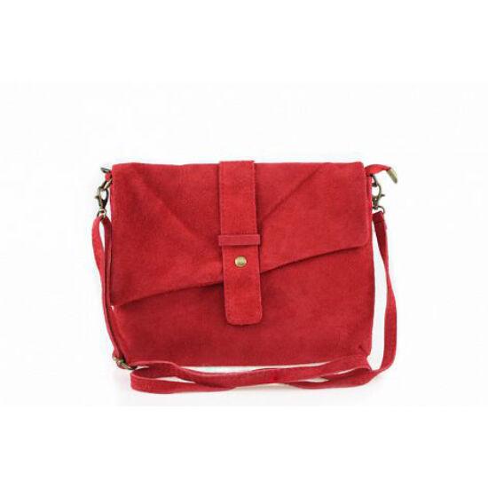 Valódi bőr női táska Piros