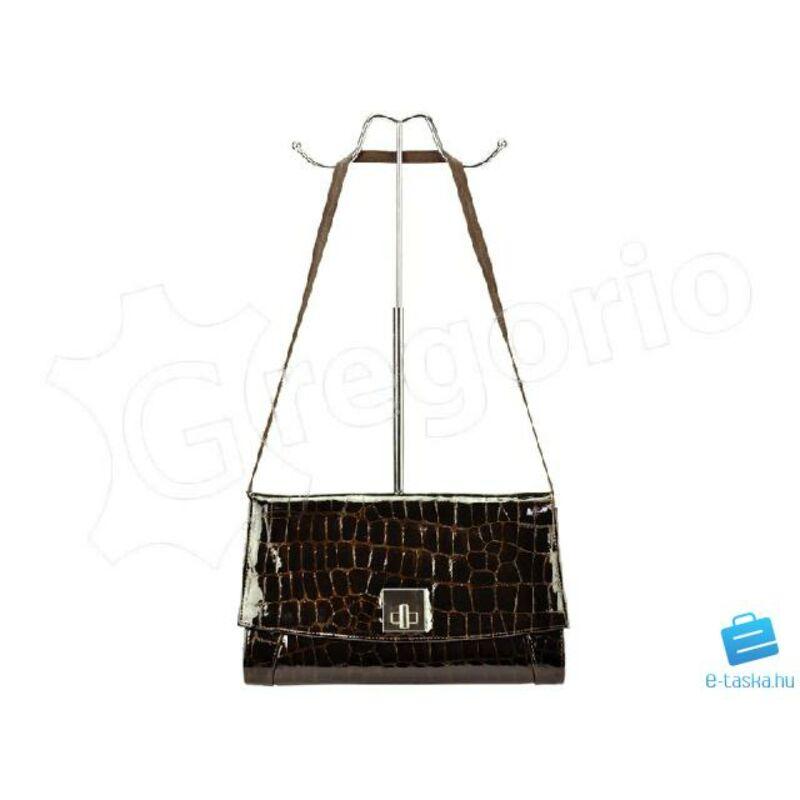 45d5888cd8 Voyager sötétbarna Valódi bőr , lakkbőr Valódi bőr női táska Katt rá a  felnagyításhoz