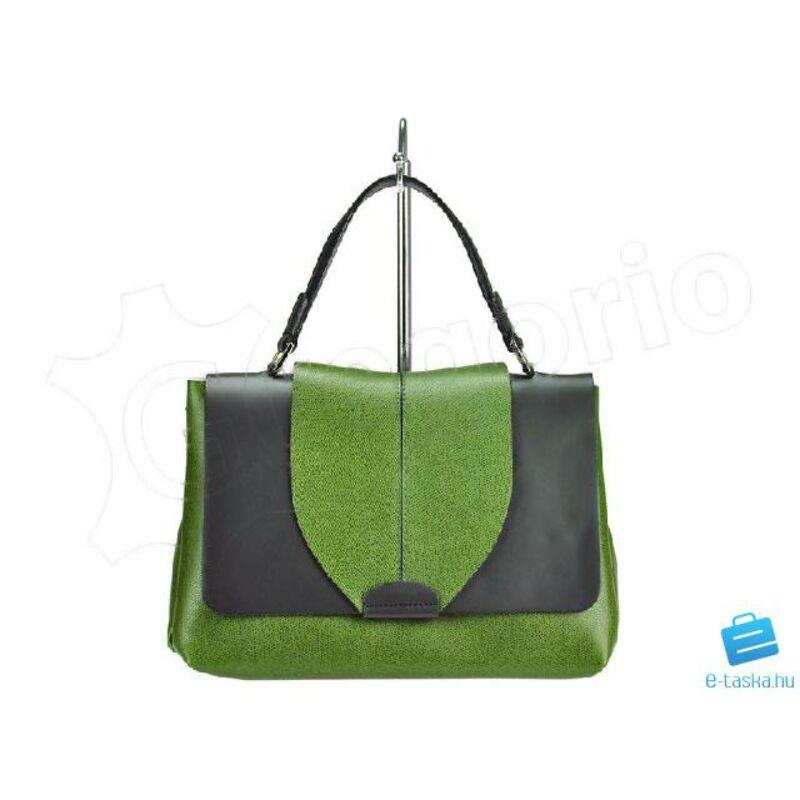 5b13a01774 Andrea Zöld + Fekete Valódi bőr Valódi bőr női táska Katt rá a  felnagyításhoz