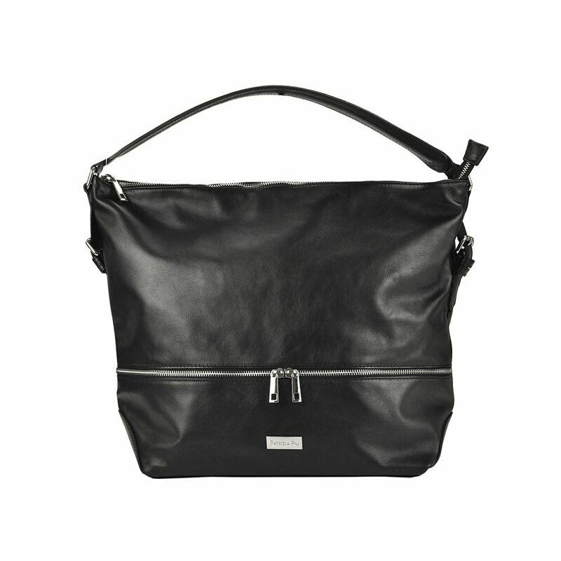 2322ee4d2b96 Patrizia Piu fekete Valódi bőr Valódi bőr női táska Katt rá a felnagyításhoz