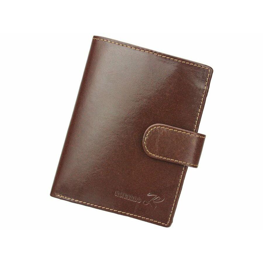 Ronaldo barna Valódi bőr Pénztárca RFID védelemmel - RFID pénztárcák ... 66b579ca27