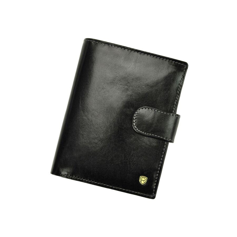 Rovicky fekete Valódi bőr Pénztárca RFID védelemmel - RFID ... 9161d232d0