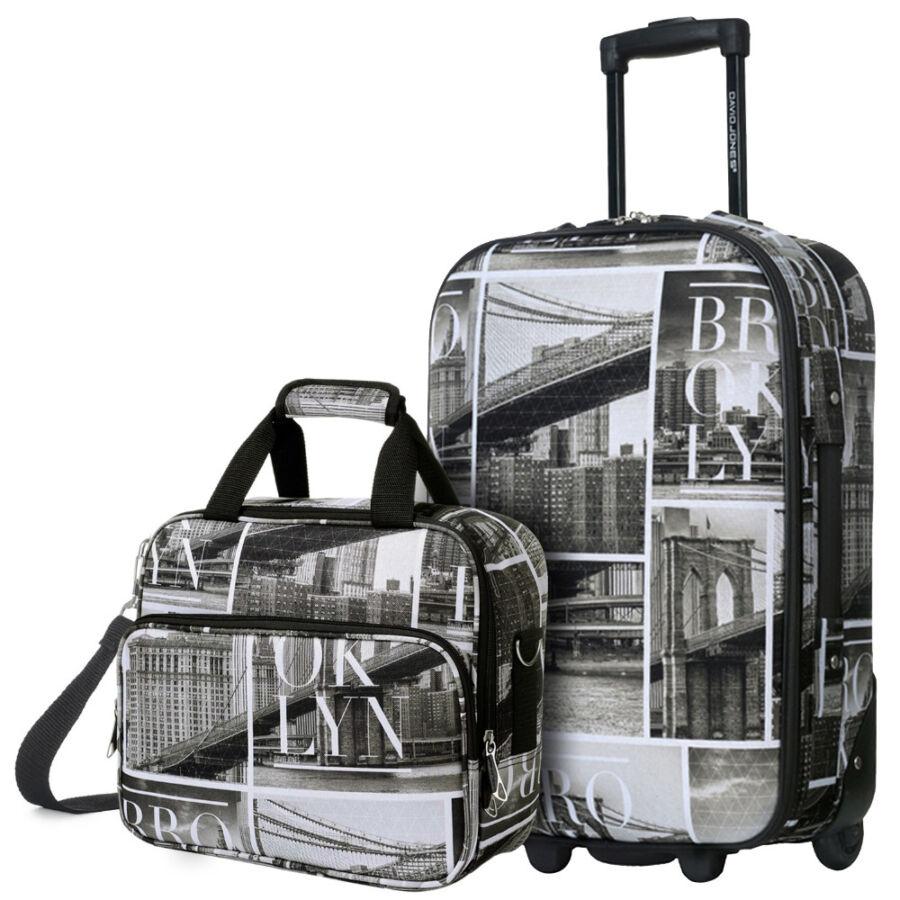 843c2011d1d2 David Jones kabin szett 2 részes Ryanair Wizzair méret - Puha bőrönd ...