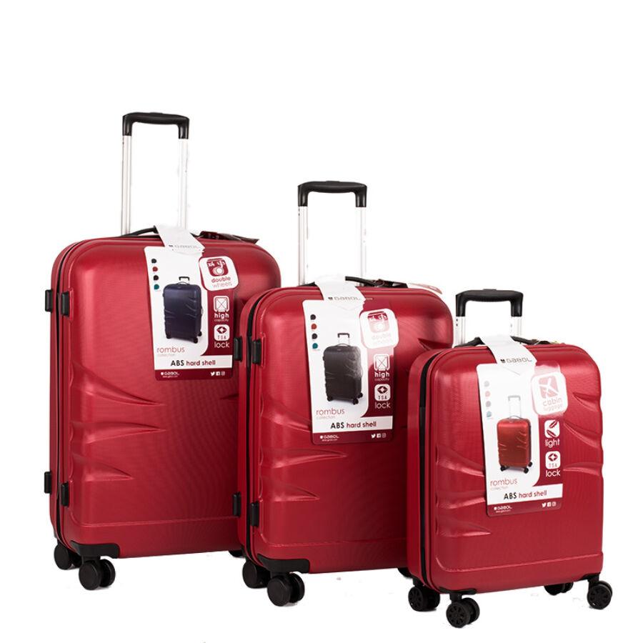 d2f5f55aa676 GA-1143 3 részes Gabol bőröndszett 5 év garanciával - Kemény bőrönd ...