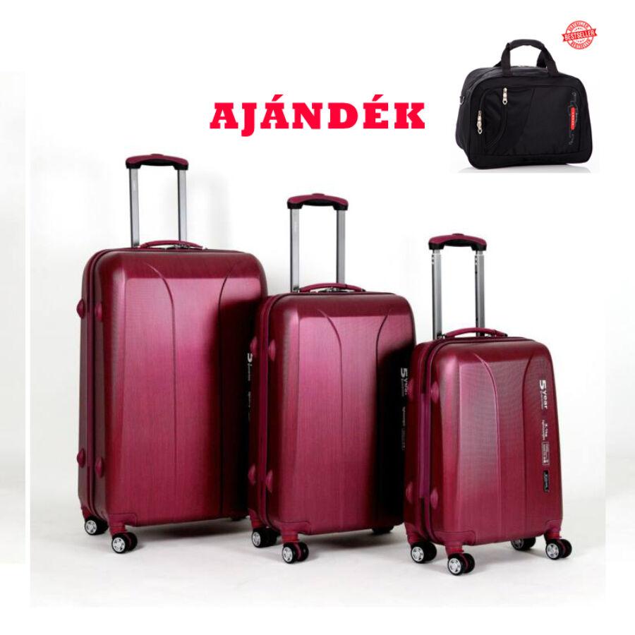 Yearz Bőrönd szett Spinner 4 kerekű változat New Carat 5 év Garanciával +  AJÁNDÉK UTAZÓTÁSKA c4c8407433