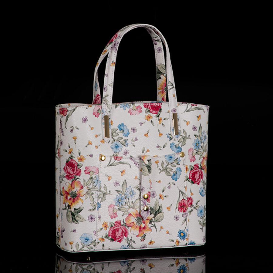 Valódi bőr virágos női táska - Valódi bőr női táska - Etáska ... c2ded8b8fb