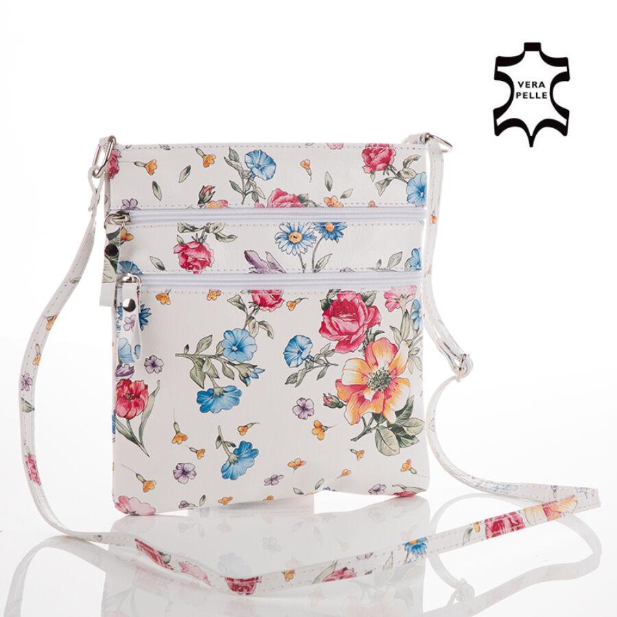 Valódi bőr virágos női oldaltáska - Valódi bőr női táska - Etáska ... 023e8a754a