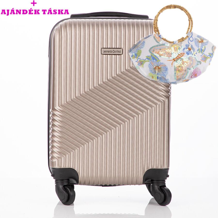 78d2ca921bf1 Leonardo Da Vinci Bőrönd ÚJ WIZZAIR méret levehető kerekekkel + ajándék táska  AKCIÓ