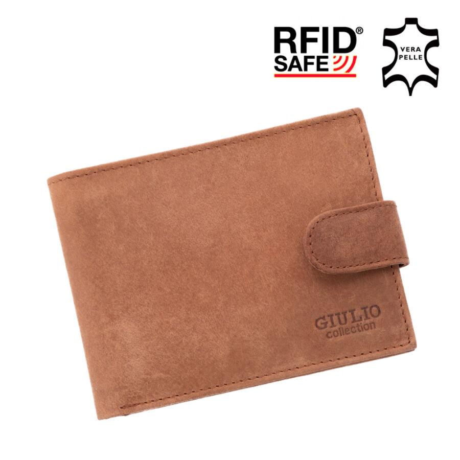 GIULIO valódi koptatott bőr férfi pénztárca díszdobozban RFID rendszerrel (  8 kártyatartó ) ec1cd438b3