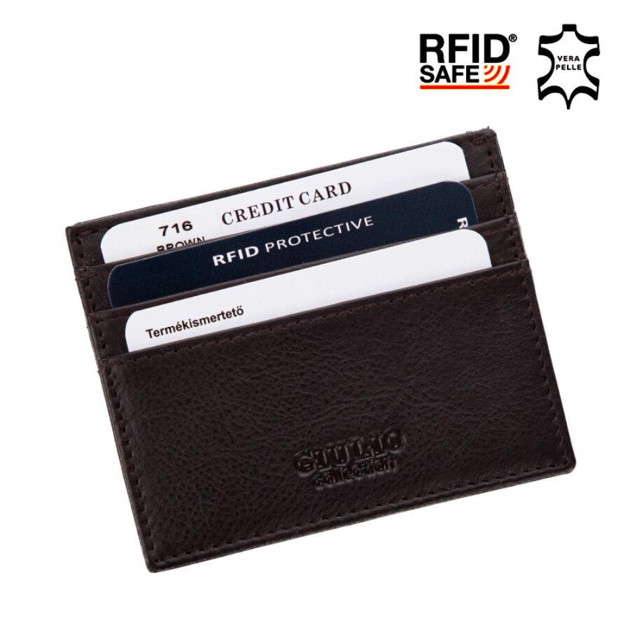 8cb55ecaf4 GIULIO Valódi bőr kártyatartó RFID Védelemmel+ · GIULIO Valódi bőr  kártyatartó RFID Védelemmel+ Katt rá a felnagyításhoz