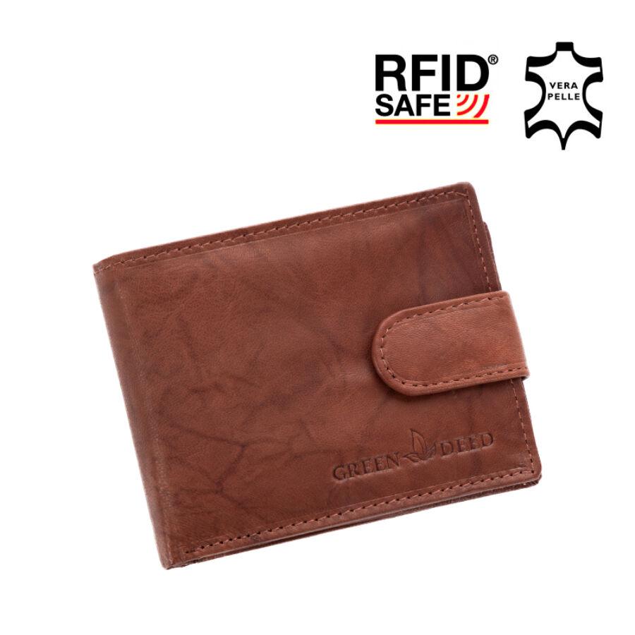 b189e496a2d3 GREEN DEED valódi bőr férfi pénztárca díszdobozban RFID rendszerrel ...