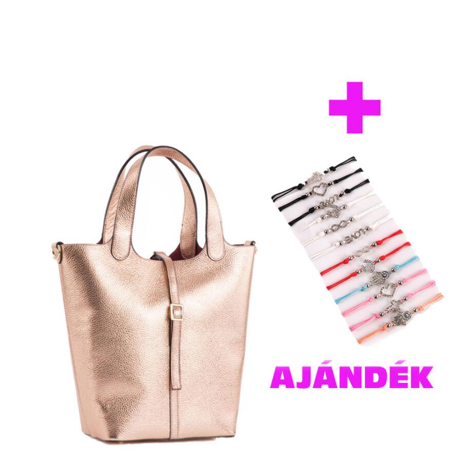 Valódi bőr női táska ajándék karkötővel - Valódi bőr női táska ... a6af3153e7